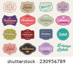 Stock vector vector set of of vintage retro styled premium design labels 230956789