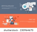 medical flat vector background... | Shutterstock .eps vector #230964670