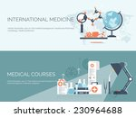 medical flat vector background... | Shutterstock .eps vector #230964688