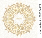 golden ornament. white... | Shutterstock .eps vector #230966974
