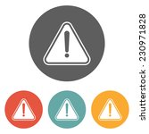 attention sign icon | Shutterstock .eps vector #230971828