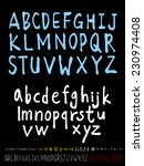 alphabet and numbers   hand... | Shutterstock .eps vector #230974408
