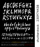 alphabet and numbers   hand... | Shutterstock .eps vector #230974438