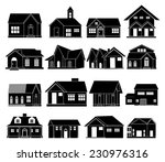 Stock vector house real estate icons set 230976316