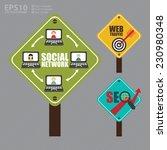 vector   street sign with... | Shutterstock .eps vector #230980348