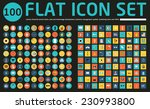 set of 100 vector social media... | Shutterstock .eps vector #230993800