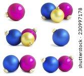 christmas balls    Shutterstock . vector #230997178