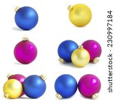 christmas balls    Shutterstock . vector #230997184