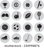sport icon set | Shutterstock .eps vector #230998876