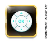 control button with long shadow ... | Shutterstock .eps vector #231004129