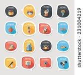 sport speech bubble flat banner ... | Shutterstock .eps vector #231004219
