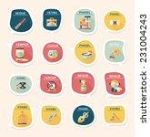 pet bubble speech flat banner... | Shutterstock .eps vector #231004243