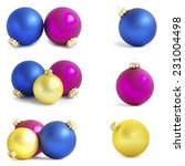 christmas balls isolated on a...   Shutterstock . vector #231004498
