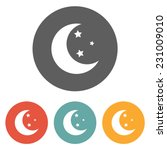moon star icon | Shutterstock .eps vector #231009010