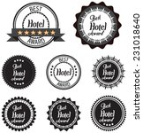 vector promo label of best of... | Shutterstock .eps vector #231018640