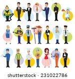 cartoon vector characters of... | Shutterstock .eps vector #231022786