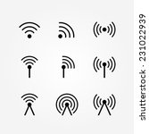 vector set of wireless and wifi ... | Shutterstock .eps vector #231022939