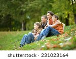 portrait of a beautiful happy... | Shutterstock . vector #231023164