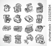 Постер, плакат: Kitchen equipment and appliances