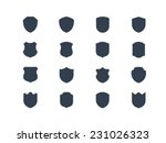 shield shape icons | Shutterstock .eps vector #231026323