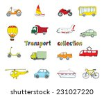 transport doodle colored... | Shutterstock .eps vector #231027220