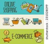 e commerce online shopping... | Shutterstock .eps vector #231028099