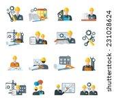 engineer construction equipment ... | Shutterstock .eps vector #231028624