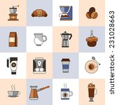 coffee icons flat line set with ... | Shutterstock .eps vector #231028663