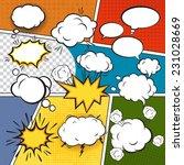 comic blank text speech bubbles ... | Shutterstock .eps vector #231028669