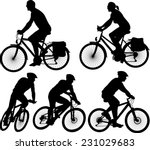 bike   vector silhouette and... | Shutterstock .eps vector #231029683