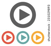 play button icon | Shutterstock .eps vector #231029893