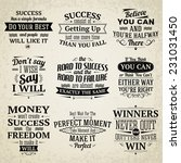 success motivational and... | Shutterstock .eps vector #231031450