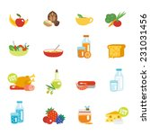 healthy eating flat icons set... | Shutterstock .eps vector #231031456
