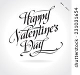 happy valentine's day original... | Shutterstock .eps vector #231031654