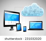 cloud computing concept with...   Shutterstock .eps vector #231032020