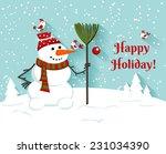 Happy Holiday Snowman...