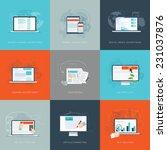 modern flat internet marketing... | Shutterstock .eps vector #231037876