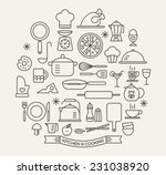cooking foods and kitchen... | Shutterstock .eps vector #231038920
