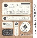 restaurant cafe set menu... | Shutterstock .eps vector #231039040