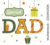 for special dad | Shutterstock .eps vector #231041434