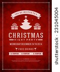christmas party invitation... | Shutterstock .eps vector #231045004