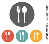 spoon fork icon | Shutterstock .eps vector #231046084