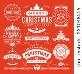 christmas decoration vector... | Shutterstock .eps vector #231048559