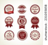vintage sale labels collection... | Shutterstock .eps vector #231055858