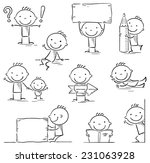 Stick Figure Cartoon Character...