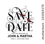 save the date creative... | Shutterstock .eps vector #231065170