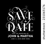 save the date vintage design | Shutterstock .eps vector #231065176