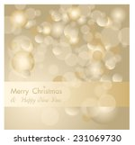 golden holiday vector abstract... | Shutterstock .eps vector #231069730
