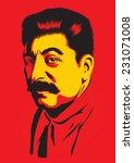 portrait of joseph stalin | Shutterstock .eps vector #231071008