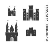castle. silhouette. isolated... | Shutterstock .eps vector #231072316